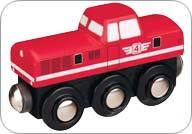 MAXIM - Dieselová lokomotiva červená