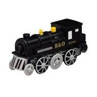 MAXIM - Parní lokomotiva černá na baterie 502542
