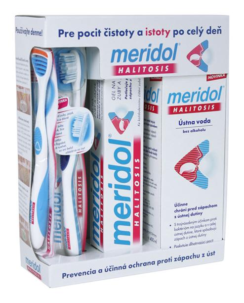 MERIDOL - HALITOSIS Systém komplexní ochrana proti zápachu z úst (zubní pasta 75ml, ústní voda 400ml, zubní kartáček)