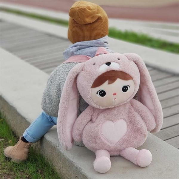 METOO - Dětský batůžek Králíček - růžový