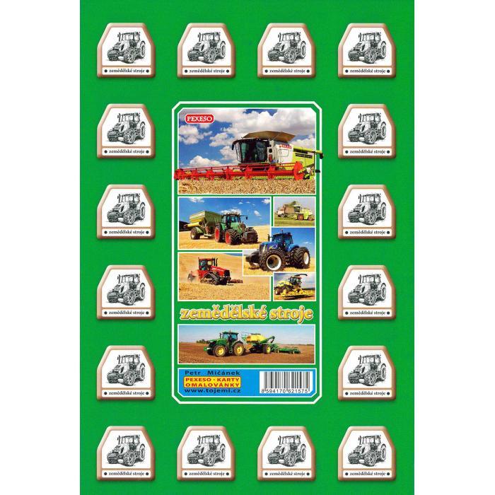 MIČÁNEK - Pexeso Zemědělské stroje