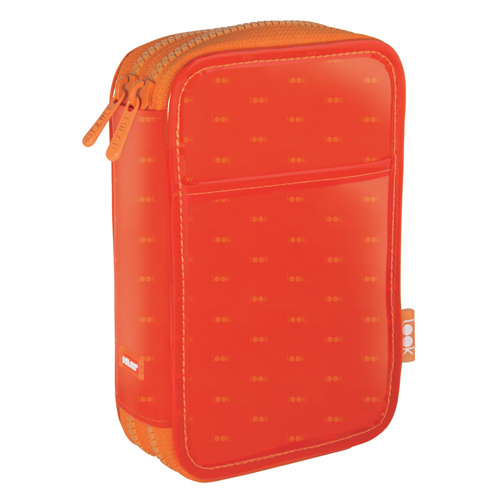 MILAN - Penál Look plný - 2 patrový oranžový