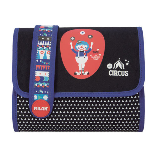 MILAN - Penál MILAN plný Multi Circus II Toni modrý