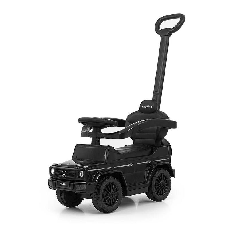 MILLY MALLY - Odrážedlo s vodící tyčí MERCEDES G350d černé