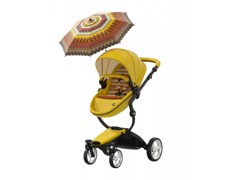 MIMA - Xari kočárek 3G - sedák s korbou Yellow