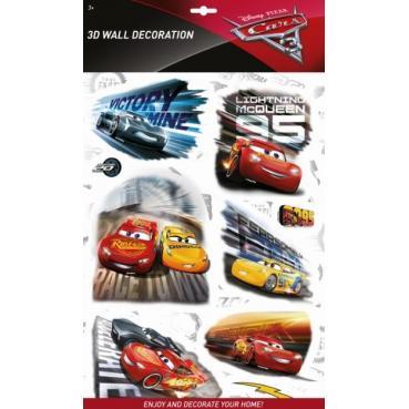 MODELS - Samolepky na zeď 3D Auta 3