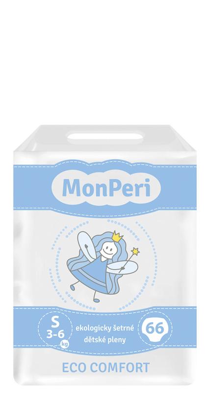 MONPERI - jednorázové pleny 3-6 kg, pleny ECO comfort S