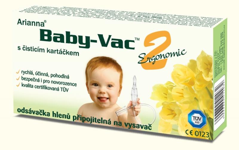 MORCHELLA - Morchella Kojenecká odsávačka hlenů - Arianna Baby-vac 2 s čisticím kartáčkem