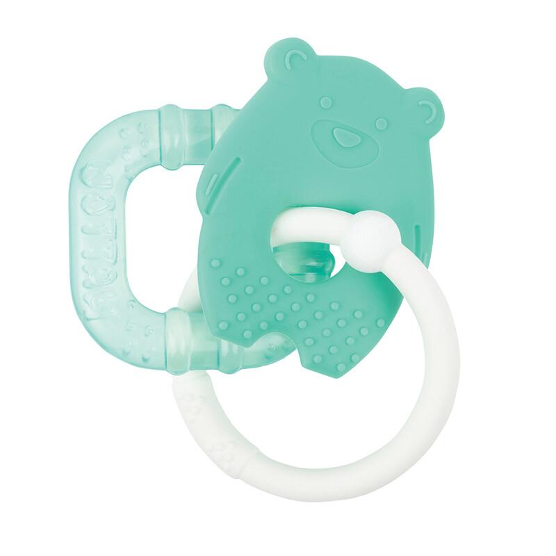 NATTOU - Kousátko silikonové s chladící částí bez BPA zelený macko