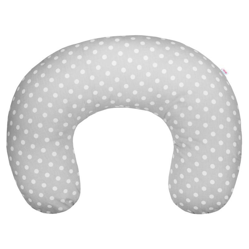 NEW BABY - Kojící polštář šedý