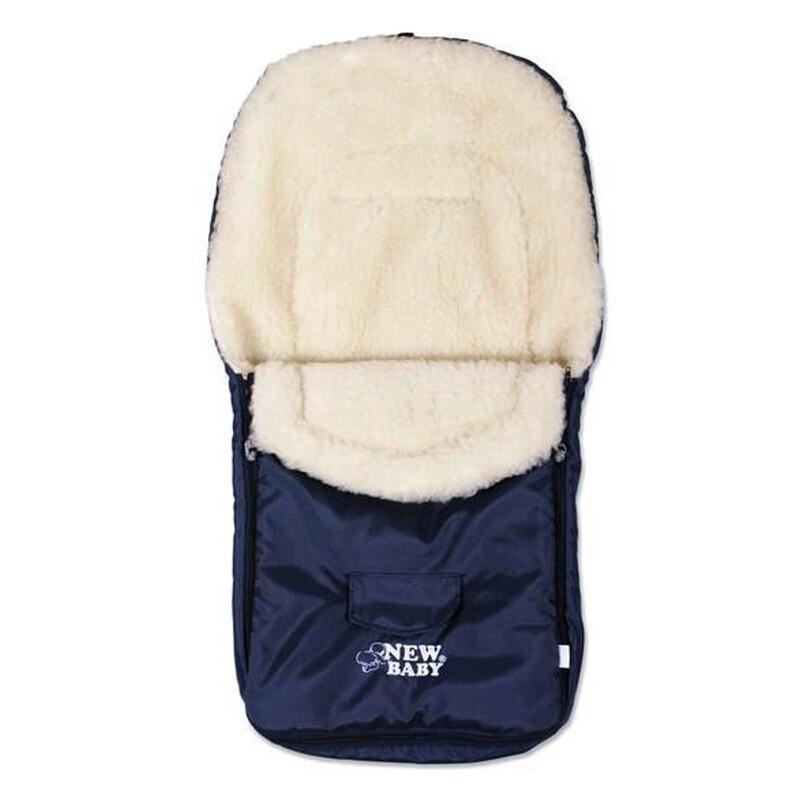 NEW BABY - Zimní fusák Classic Wool blue