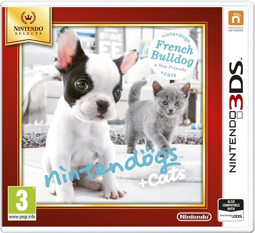 NINTENDO - 3DS Nintendogs+Cats-French Bull &new Friends Select