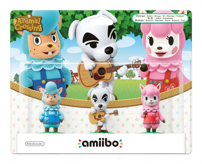 NINTENDO - amiibo Animal Crossing 3-Pack: Reese/K.K./Cyrus
