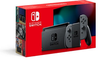 NINTENDO - Nintendo Switch console with grey Joy-Con