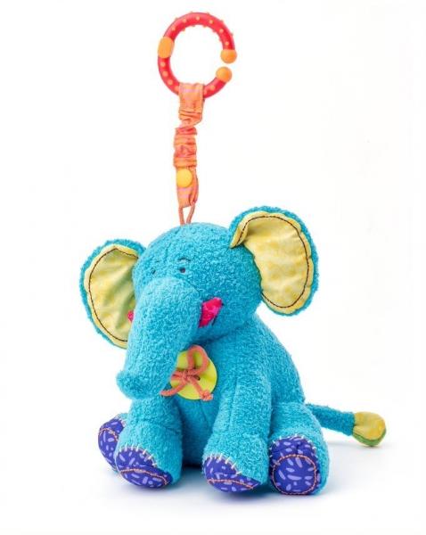 NINY - Závěsná plyšová hračka s chrastítkem - Sloník Kaleo
