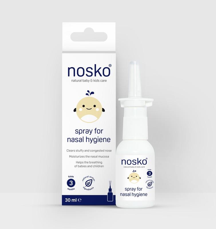 NOSÁTKO - Sprej Nosko - izotonický roztok mořské vody 30 ml