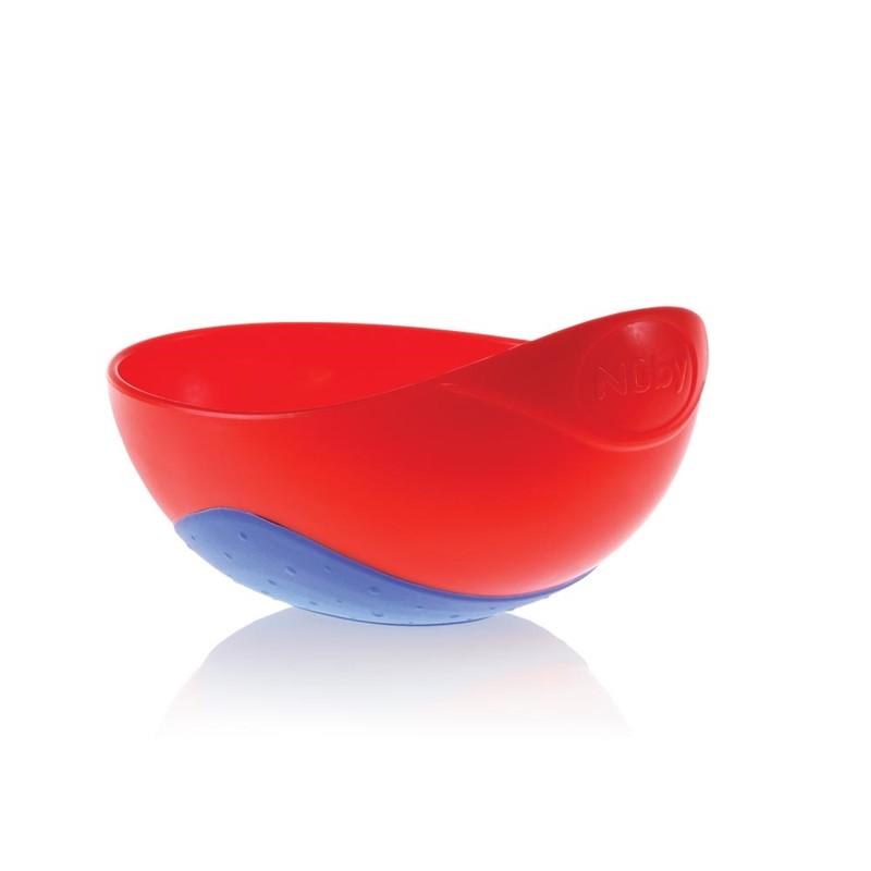 NUBY - Miska do mikrovlnné trouby 6m + červená