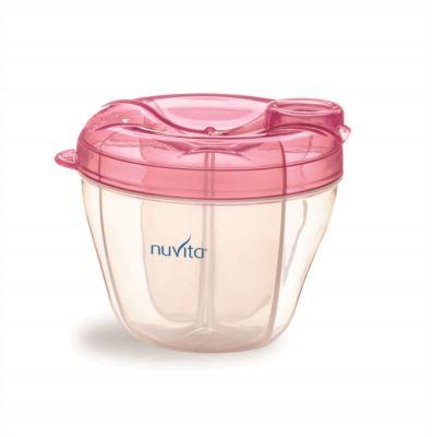 NUVITA - Nádoba na sušené mléko - růžová