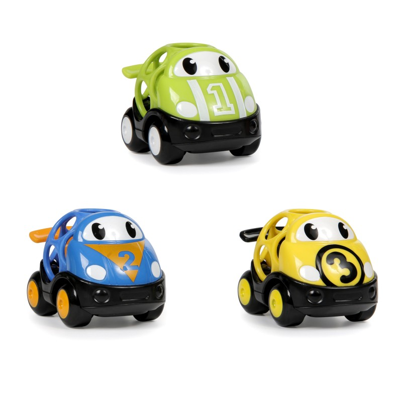 OBALL - Hračka autíčko závodní Herbie, Tom a Mike Oball Go Grippers 18m+,3ks