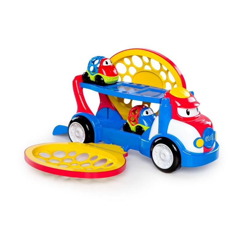 OBALL - Hračka tahač Grumpy + 2 autíčka Dave a Danny Oball Go Grippers 18m+