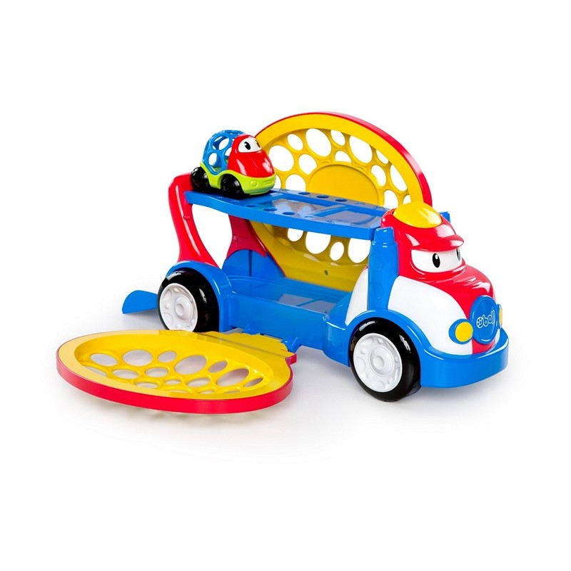 OBALL - Hračka tahač Grumpy + autíčko Dave Go Grippers 18m +