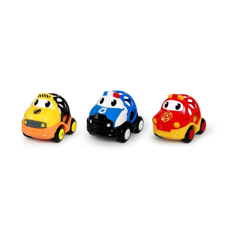 OBALL - Hračka záchranné vozy Dan, Ben a Zac Go Grippers 18m +