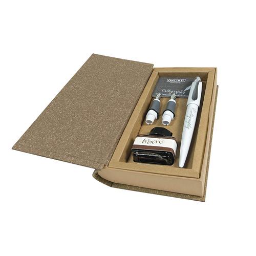 ONLINE - Kaligrafický set bílý - plnicí pero + hroty + converter + inkoust