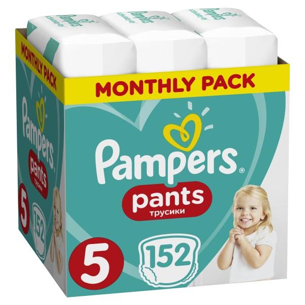 PAMPERS - Měsíční zásoba plenkových kalhotek ActivePants 5 JUNIOR 12-17kg 152ks