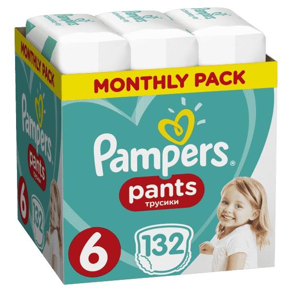 PAMPERS - Měsíční zásoba plenkových kalhotek ActivePants 6 EXTRA LARGE 15 + kg 132ks