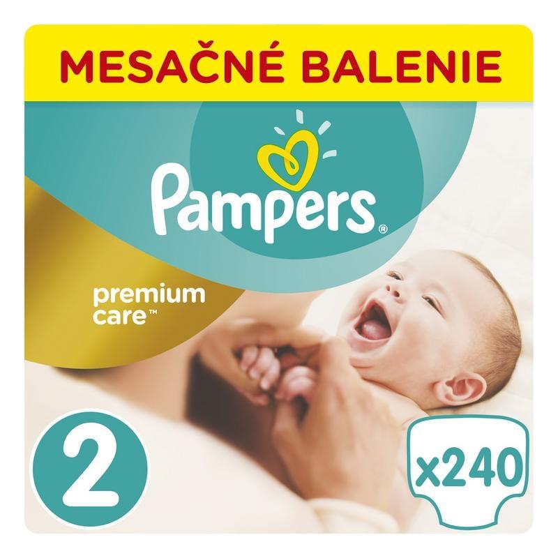 PAMPERS - Měsíční zásoba plenek Premium Care 2 MINI 3-6kg 240ks