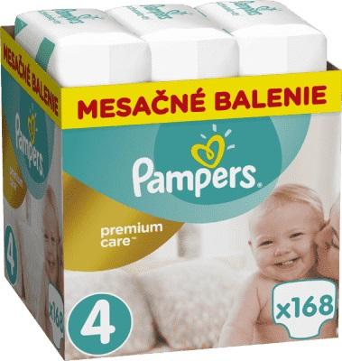 PAMPERS - Měsíční zásoba plenek Premium Care 4 MAXI 9-14kg 168ks
