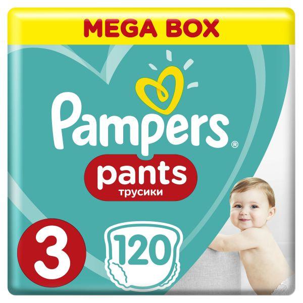 PAMPERS - Kalhotky plenkové ActivePants 3 MIDI 6-11kg 120ks