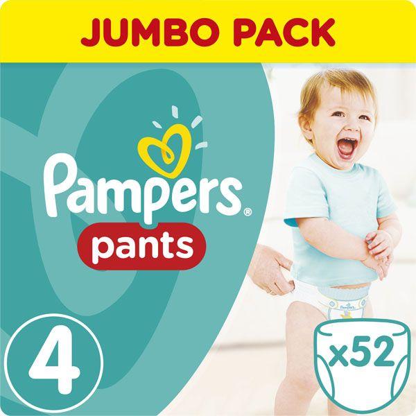 PAMPERS - Kalhotky plenkové ActivePants 4 MAXI 9-14kg 52ks