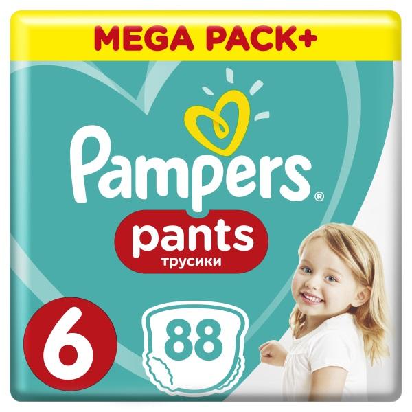 PAMPERS - Kalhotky plenkové ActivePants 6 EXTRA LARGE 16 + kg 88ks