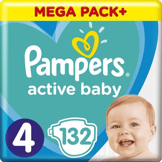 PAMPERS - Plienky Active Baby 4 MAXI 9-14kg 132ks