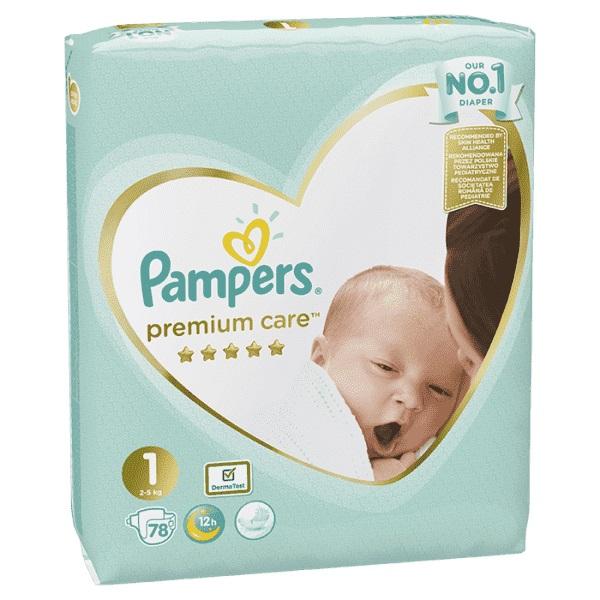 PAMPERS - Plenky Premium Care 1 NEWBORN 2-5kg 78 ks