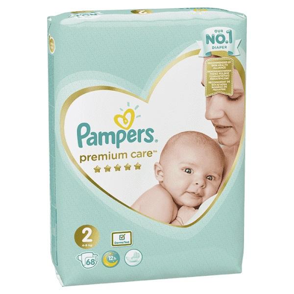 PAMPERS - Plenky Premium Care 2 MINI 3-6kg 68 ks