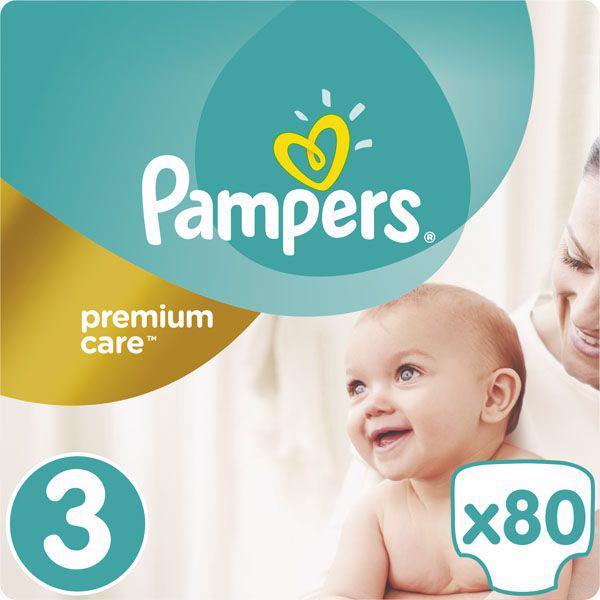 PAMPERS - Plienky Premium Care 3 MIDI 5-9kg 80ks