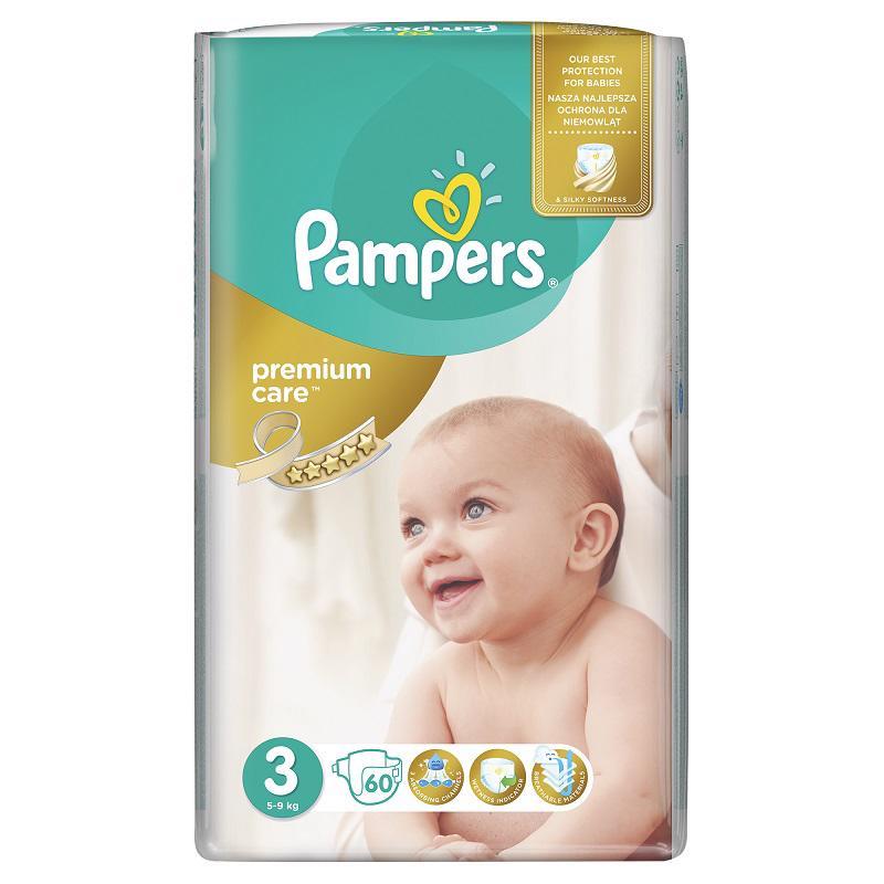 PAMPERS - Plienky Premium Care Midi 60ks 5-9kg