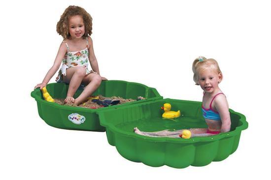 PARADISO - Pískoviště - bazén Mušle s krytem zelená