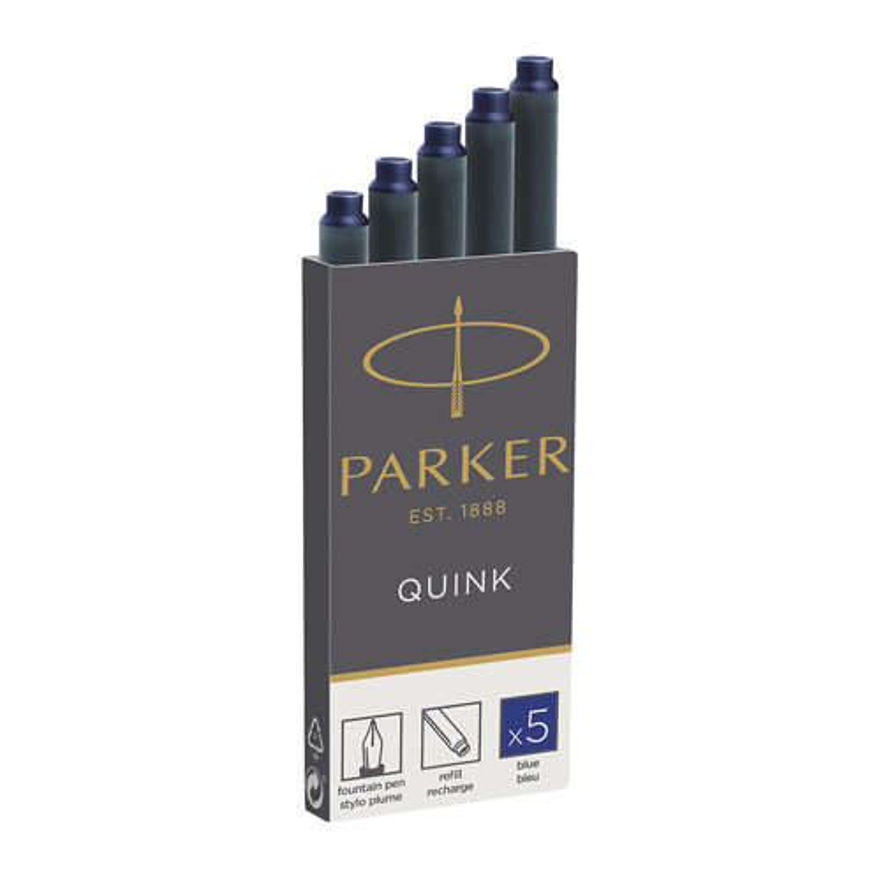 PARKER - Bombičky Parker, modré 5 ks