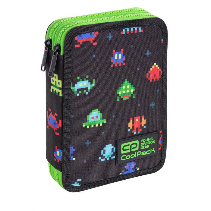 PATIO - Školní penál CoolPack Jumper XL - Pixels