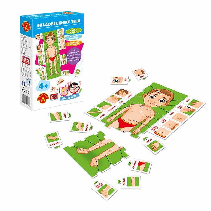 PEXI - Hra školou - skládej lidské tělo