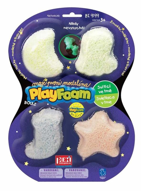 PEXI - Play foam svítící modelína 4 barvy