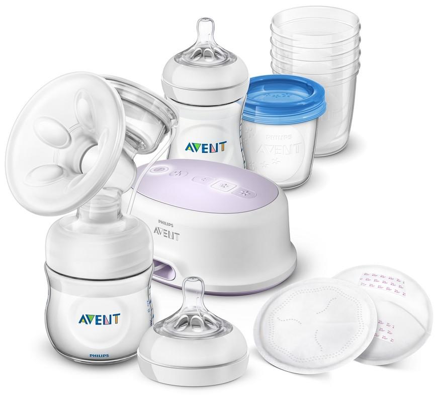 PHILIPS AVENT - Avent - Odsávačka mateřského mlieka Natural elektronická -sada pro kojení nová