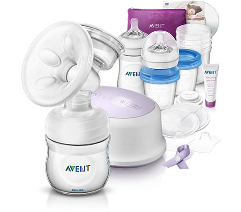 PHILIPS AVENT - Avent - Sada pro kojení s odsávačkou elektronická Natural nová