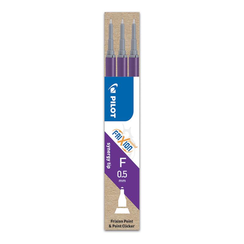 PILOT - Náplň gumovací Frixion 0,5 mm/3 ks Micro hrot - fialová
