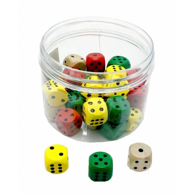 PKSTAR - Hrací kostky - dřevěné PK37-9 30ks