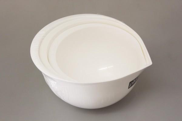 PLAST TEAM - Plastové misky 3 ks - bílé