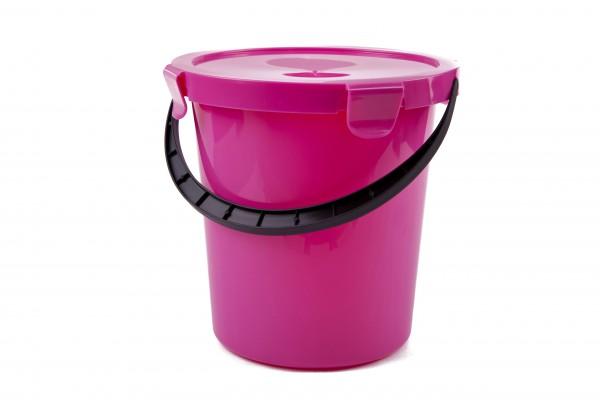 PLAST TEAM - Plastové vědro s víkem 5l - růžové